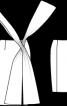 Спідниця вузька з широкими зав'язками - фото 3