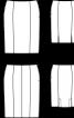 Спідниця прямого крою з двома шліцами - фото 3