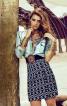 Міні-спідниця із завищеною талією - фото 1