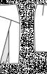 Спідниця вузька з розрізом і на кокетці - фото 3