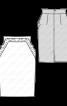 Спідниця вузького крою з оборками - фото 3