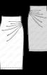 Спідниця-олівець трикотажна з драпіровкою - фото 3