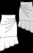 Спідниця-олівець трикотажна з воланом - фото 3