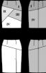 Спідниця-олівець з асиметричною кокеткою - фото 3