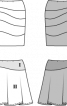 Спідниця-олівець трикотажна з асиметричною кокеткою - фото 3