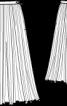 Спідниця-плісе довжини міді - фото 3