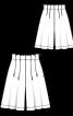 Спідниця-шорти розкльошеного силуету - фото 3