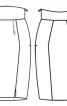 Спідниця-тюльпан на високому фігурному поясі - фото 3