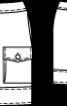 Спідниця-тюльпан з накладною кишенею - фото 3
