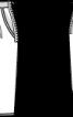 Спідниця-тюльпан із лляного полотна - фото 3
