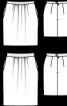 Спідниця-тюльпан коротка шерстяна - фото 3