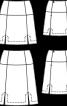 Спідниця А-силуету із розрізами у швах - фото 3
