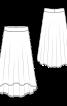 Юбка асимметричная на эластичном поясе - фото 3