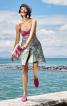 Спідниця А-силуету із зустрічною складкою - фото 1