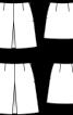 Спідниця міні із зустрічною складкою - фото 3
