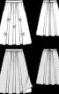 Спідниця двошарова розкльошеного силуету - фото 3