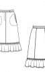 Спідниця А-силуету з оборкою - фото 3