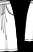 Спідниця розкльошеного крою зі складками біля пояса - фото 3