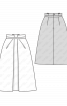 Спідниця міді А-силуету з косими складками - фото 3