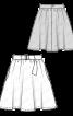 Спідниця коротка розкльошеного силуету - фото 3