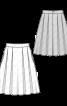 Спідниця лляна зі складками - фото 3