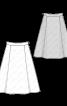 Спідниця розкльошеного силуету зі складками - фото 3