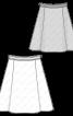 Спідниця розкльошеного крою зі складками - фото 3