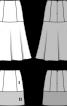 Спідниця міні розкльошеного силуету без пояса - фото 3