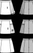 Спідниця міні силуету трапеція - фото 3