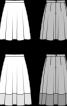 Спідниця А-силуету з мереживною планкою по низу - фото 3