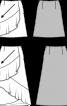 Спідниця максі з асиметричними воланами - фото 3