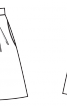 Спідниця зі складками на поясі - фото 3