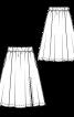 Спідниця міні розкльошеного силуету з боковим розрізом - фото 3