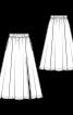Спідниця максі розкльошеного силуету з боковим розрізом - фото 3