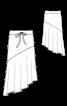 Юбка с асимметричным воланом - фото 3