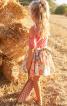 Спідниця пишного крою з поясом-бантом - фото 1