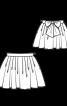 Спідниця пишного крою з поясом-бантом - фото 3