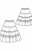 Спідниця максі багатоярусна - фото 3