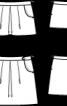 Спідниця міні трикотажна зі складками - фото 3
