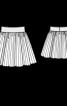 Спідниця плісирована на еластичному поясі - фото 3