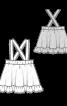 Спідниця розкльошеного силуету на бретелях - фото 3