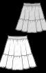 Спідниця пишного крою на еластичному поясі - фото 3