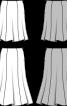 Спідниця годе довжини міді без пояса - фото 3