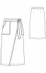 Юбка джинсовая с запахом - фото 2