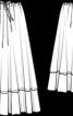 Спідниця максі батистова пишного крою - фото 3