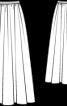 Спідниця довга на поясі з репсової стрічки - фото 3