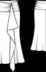 Спідниця максі шовкова з воланом - фото 3