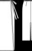Спідниця максі прямого крою з високим розрізом - фото 3