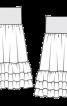 Спідниця максі на широкій трикотажній кокетці - фото 3