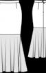 Спідниця максі зі шкіряною нижньою частиною - фото 3